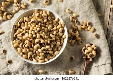 Raw Organic Black Eyed Peas in a Bowl
