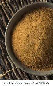 Raw Organic Coconut Palm Sugar in a Bowl