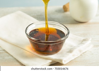 Raw Organic Dark Agave Syrup in a Bowl