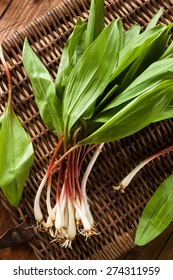 Raw Organic Green Ramps Ready to Cook With