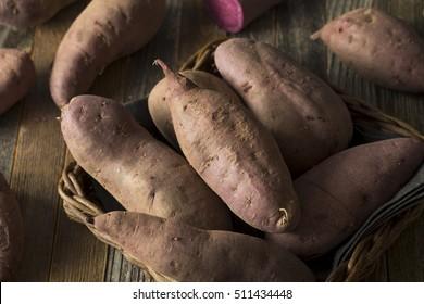 Raw Organic Purple Sweet Potatoes Ready to Eat