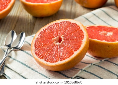 Raw Organic Ruby Red Grapefruits Ready to Eat