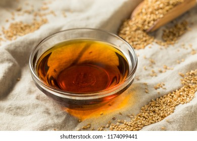 Raw Organic Sesame Oil in a Bowl