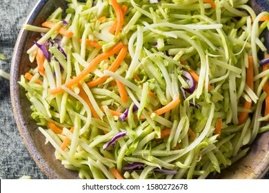 Raw Organic Shredded Broccoli Slaw Ready to Eat