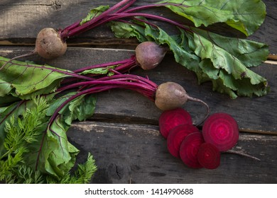 Raw organic vegetables beetroot on the table. Healthy clean eating.