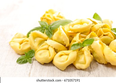 raw pasta,tortellini