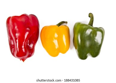 raw peppers raw and fresh colors, vegetables