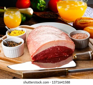 Raw picanha food