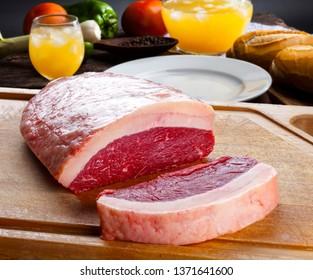 Raw picanha food