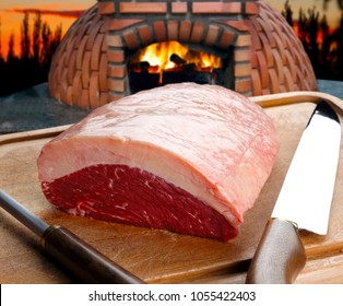 Raw Picanha, traditional Brazilian beef cut