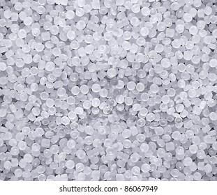 raw plastic material white granules