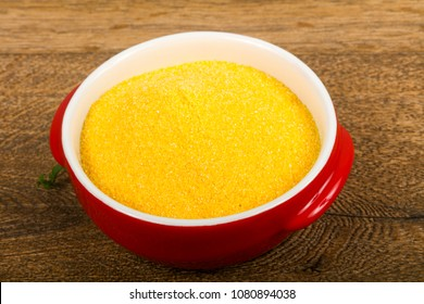Raw polenta ready for cooking