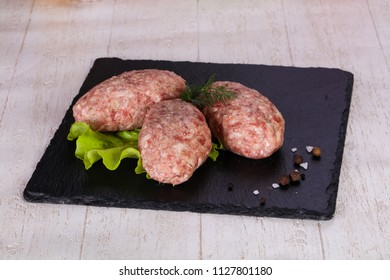 Raw pork cutlet - minced meat