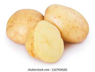 raw potato isolated on white background