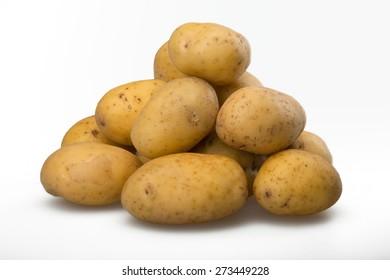 Raw Potato, Vegetable, Food.