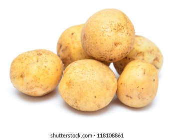 raw potatoes isolated on white