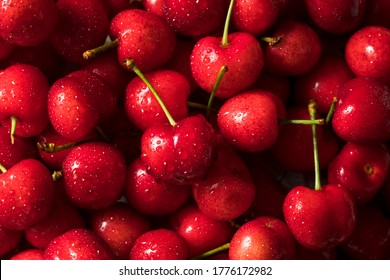 Raw Red Organic Cherries Ready to Eat