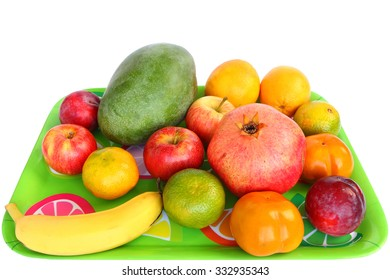 Raw ripe fruit. Variety of a natural healthy fruit