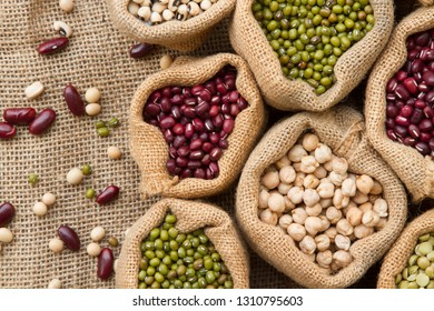 Raw seed of legumes high fibre food for diet, Healthy food concept.