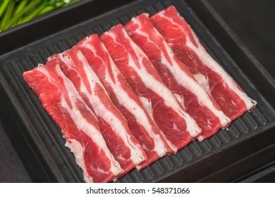 Raw Sliced Beef for Shabu Shabu