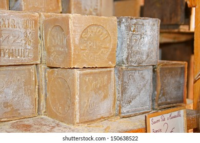 Raw soap from Marseille, France