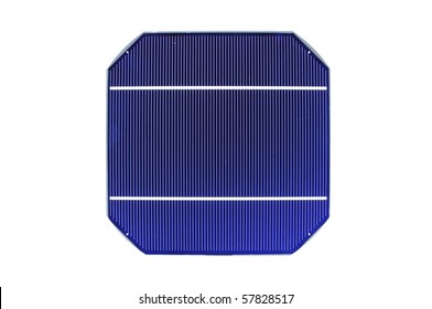 Raw solar cell on white background