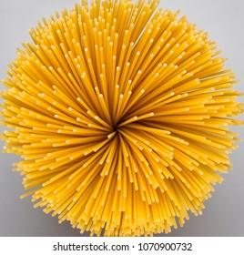 raw spaghetti closeup