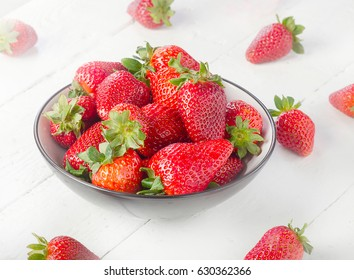 Raw Strawberries. Healthy eating concept.