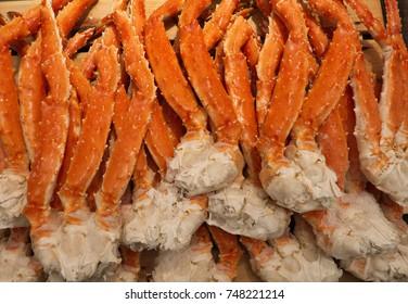 Raw Taraba king Crab or Alaska Crab