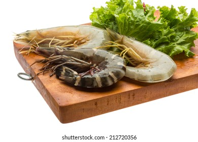 Raw Tiger prawn ready for cooking
