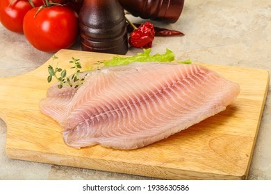 Raw tilapia fish fillet for cooking