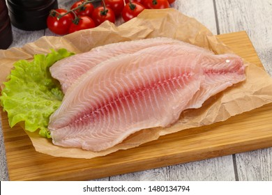 Raw tilapia fish ready for cooking
