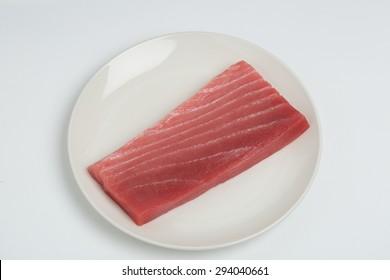 Raw tuna for sashimi