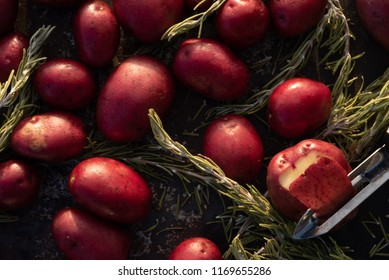 raw uncooked Baby Red Potatoes
