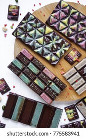 Raw Vegan Coloured Handmade chocolat