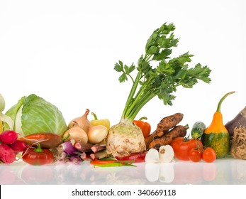raw vegetables group for a healthy life