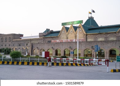 Rawalpindi, Punjab/ Pakistan- September 10, 2019: Scenes from Rawalpindi Station