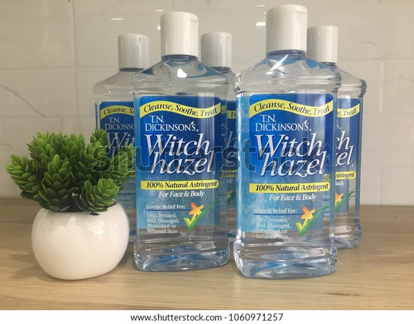 Rawang, Malaysia - April 1, 2018: Witch Hazel Astringent of Dickinson Brands. Dickinson Brands is the world's leading producer of natural witch hazel astringent and other personal care products