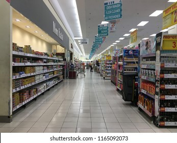 Rawang, Malaysia - August 26, 2018: Interior view of a AEON retail stores. AEON is the largest retailer in Asia, formerly known as JUSCO supermarkets.