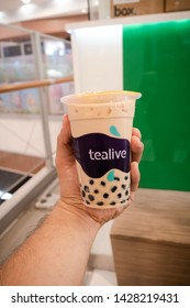Rawang, Malaysia - June 2019. Tealive is a Malaysia Based Bubble Tea franchised. Selective focus, shallow depth of field