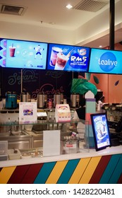 Rawang, Malaysia - June 2019. Tealive is malaysia based bubble tea franchised. Selective focus, shallow depth of field