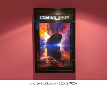Rawang, Selangor, Malaysia, 4th December 2018 - A beautiful standee of a movie called X-Men Dark Phoenix display at the cinema to promote the movie
