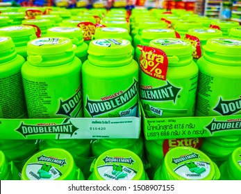 Rawang,Selangor, Malaysia, 20th September 2019 - Double Mint Chewing Gum is sold in Malaysia, manufactured by Wrigley Company, headquartered in Chicago, USA.
