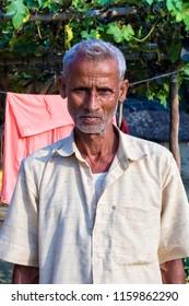 RAXAUL, INDIA - NOV 12: Unidentified Indian man on the street on November 12, 2013 in Raxaul, Bihar state, India.