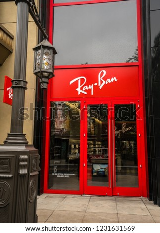 02123364114 Ray Ban Store Americana Mall Glendale Stock Photo (Edit Now ...