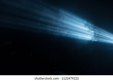Ray of light on a black background. Concert