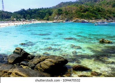 Raya, Phuket/Thailand - March 17 2016: Raya Island is one of the most beautiful island in Phuket