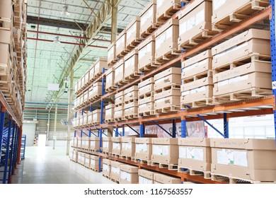 Rayong province Thailand , April 16 , 2018 :  warehouse at Rayong province Thailand .