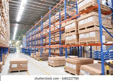 Rayong province Thailand - March 10 , 2019 :  warehouse at Rayong province Thailand .