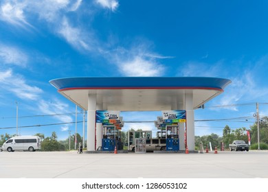 Rayong /Thailand - Jan 16, 2019: PTT gas station. PTT Public Company Limited or simply PTT is a Thai state-owned SET-listed oil and gas company.